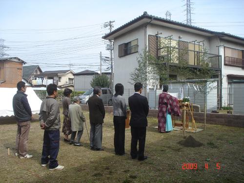 地鎮祭の様子1