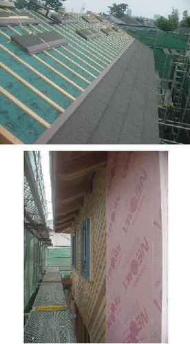 屋根材、断熱材